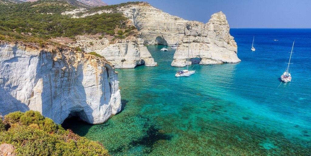 Top 10 Clear Water Beaches - Kleftiko Beach, Milos, Greece