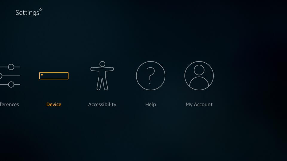 Select My Fire TV or Device