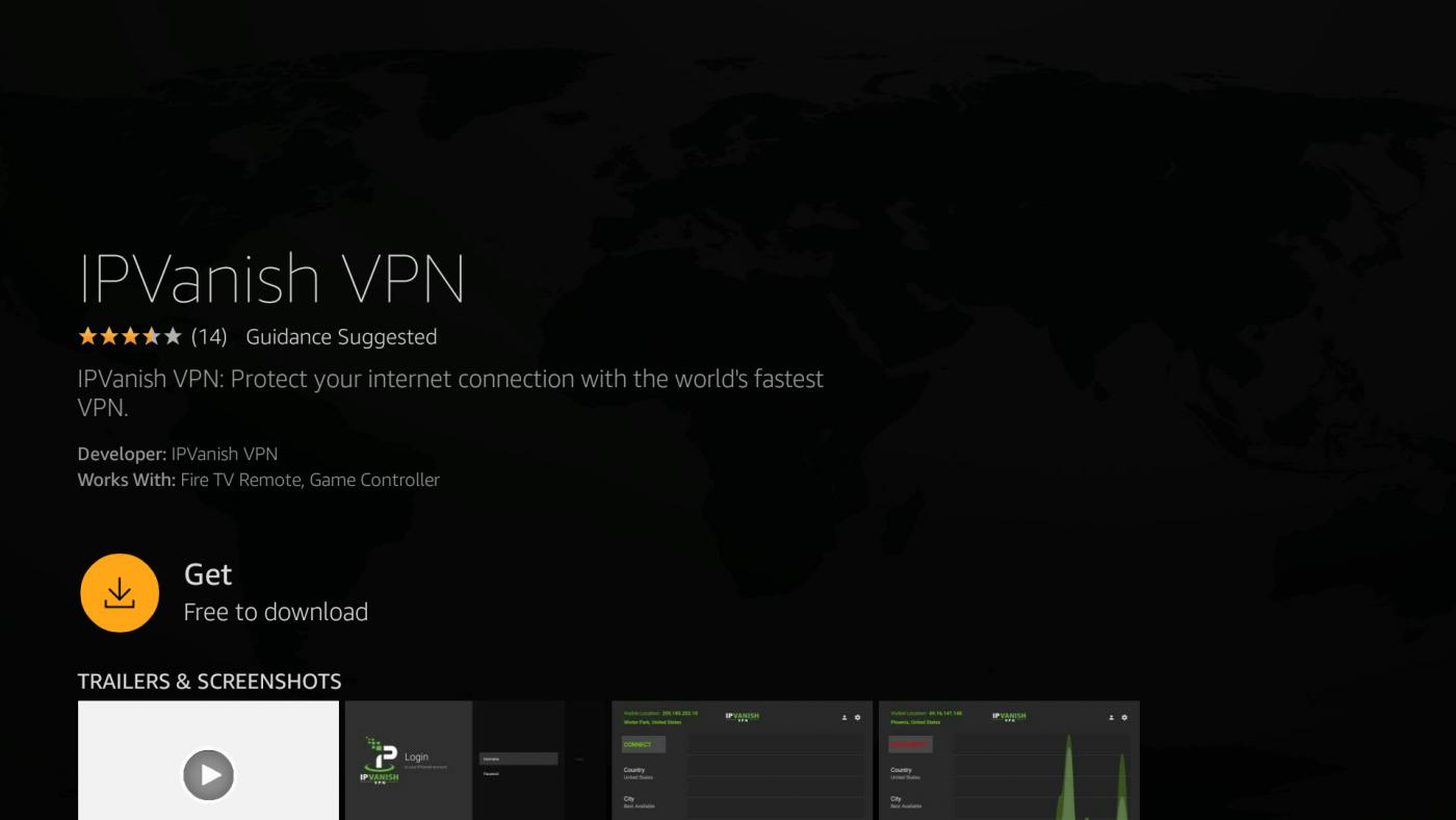 IPVanish on Firestick