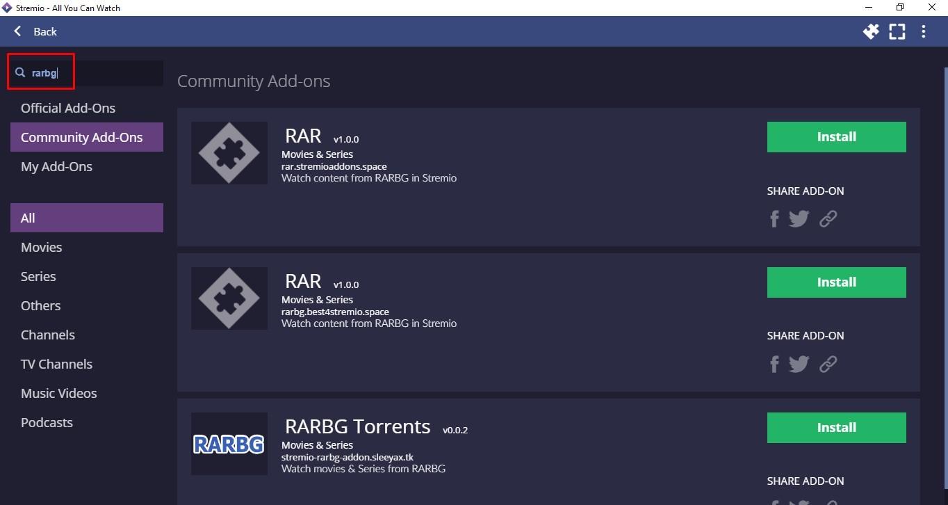How to Install RARBG Addon on Stremio?